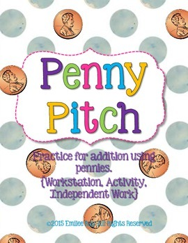Penny Pitch {Addition Practice with Pennies}