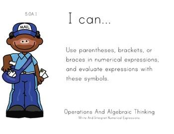 Penpals Theme 5th grade math Common Core Posters Fifth Gra