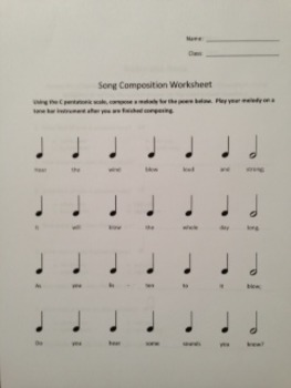 Pentatonic Composition Worksheet