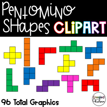 Pentomino Shapes {Clipart for Commercial Use}