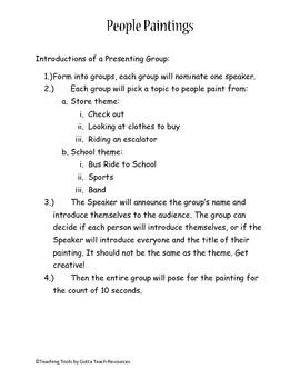 People Paintings Drama Group Play
