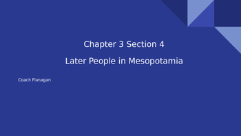 People of Mesopotamia ppt. notes