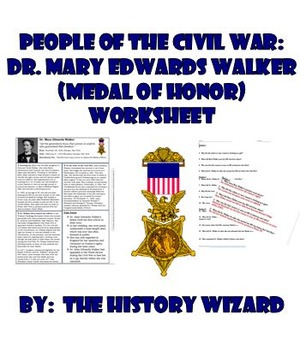 People of the Civil War: Dr. Mary Edwards Walker (Medal of