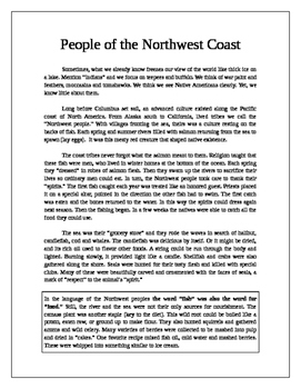 Native Americans: People of the Northwest Coast