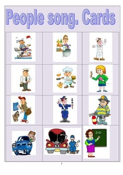 People professions cards