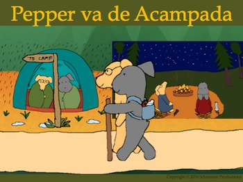 Pepper Goes Camping in Spanish