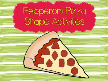 Pepperoni Pizza Shape Activities