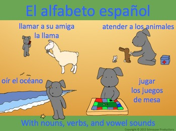 Pepper's Spanish Alphabet (and vowels and diphthongs)
