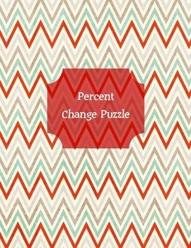 Percent Change Review Puzzle