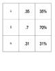 Percent Decimal Fraction Concentration Memory Game