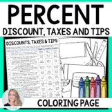 Percent Discount, Taxes and Tips