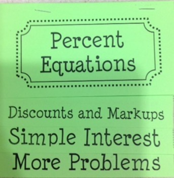 Percent Equations-Markup, Discounts, Simple Interest Flip