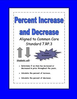 Percent Increase and Decrease Worksheet