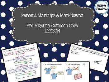 Percent Markups & Markdowns