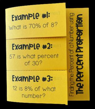 Percent Proportion (Foldable)