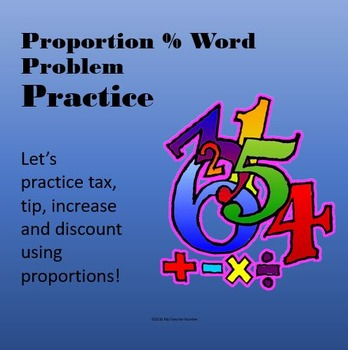 Percent Proportion Word Problem Practice Power Point!