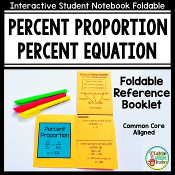 Percent Proportion and Percent Equation Foldable For Perce