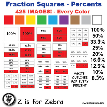 Percent Square Clip Art 425 Images - Commercial Use OK! Zi