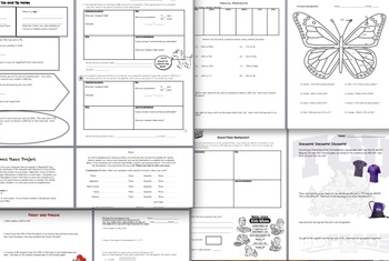 Percent Worksheets Bundle