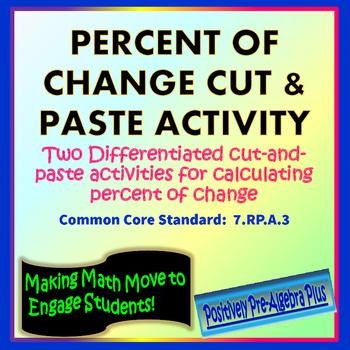 Percent of Change Cut & Paste Activity