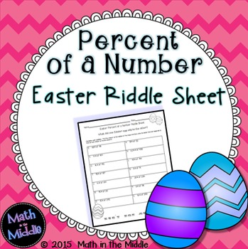 Percent of a Number Easter Riddle Sheet