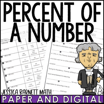Percent of a Number Mistory Lib Activity