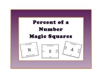 Percent of a Number Magic Square 7EE3, 7RP3