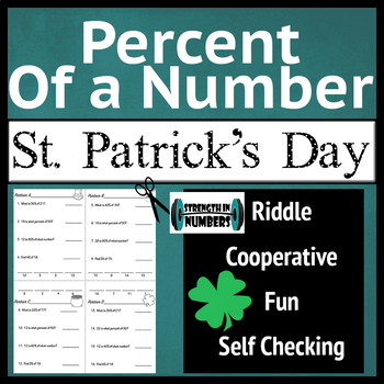 Percent of a Number St. Patrick's Day Partner Group Riddle