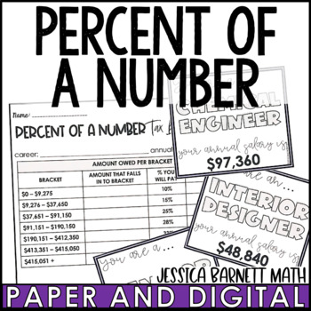 Percent of a Number Tax Bracket Activity