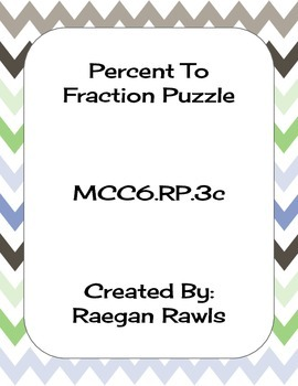 Percent to Fraction Puzzle