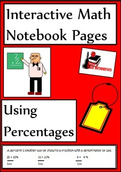 Percentage Lesson for Interactive Math Notebooks