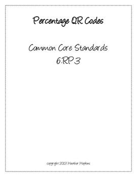 Percentage QR Codes - 6.RP.3