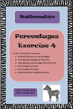 Percentages: 13-question exercise (4) (PDF)