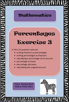 Percentages: 16-question exercise (3) (PDF)