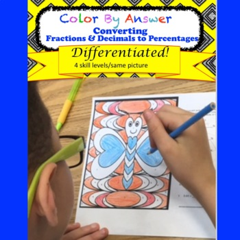 Percentages: Converting Decimals and Fractions Color by An