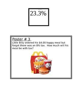 Percentages Scavenger Hunt