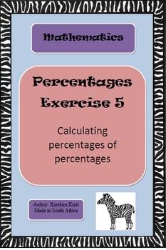 Percentages: exercise (5) (PDF)