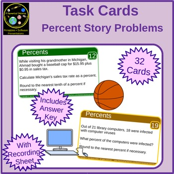 Percents Task Cards