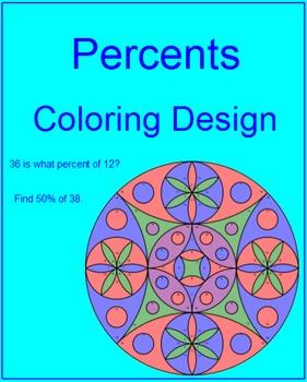 Percents #1 - Coloring Activity