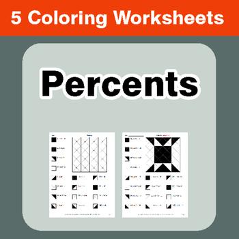 Percents - Coloring Worksheets