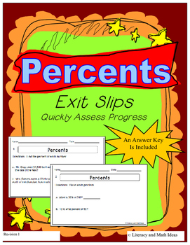 Percents Exit Slips