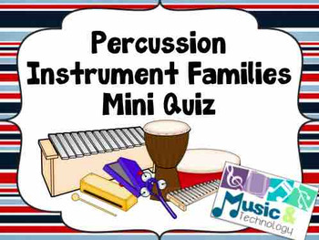 Percussion Instrument Families (Wood, Metal, Membrane) Pow