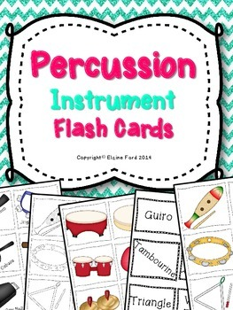 Percussion Instrument Flash Cards & Matching Game