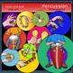 Percussion instruments clip art set 2 -Color and B&W- 50 items!