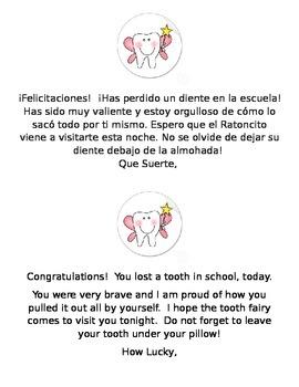 Perdido un Diente - Lost a Tooth at School