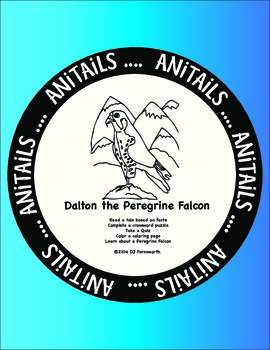 ANiTAiLS:Peregrine Falcon Story, Crossword, Coloring Page