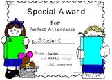 Perfect Attendance (Quarterly) Award Certificate