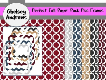 Perfect Fall Paper Pack Plus PNG Frames {Personal or Comme