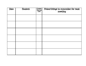 Perfect Guided Reading Record Sheet