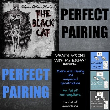 Perfect Pairing #2: THE BLACK CAT AND WHAT'S WRONG WITH MY ESSAY?